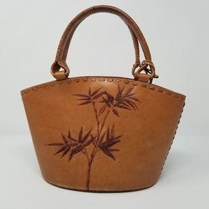 Fossil Leather Bohemian Bamboo Handbag Purse